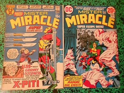 Lot 2 comics Jack Kirby  Mister Miracle 2 et 14  (1971-1973) Fine   Very  Fine!