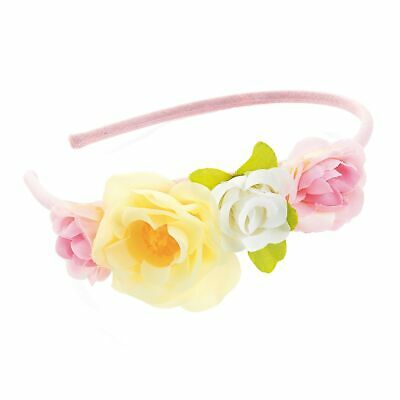 Flower Alice Band Pink,yellow,white Floral Head Dress Set Head Band Girls ladies
