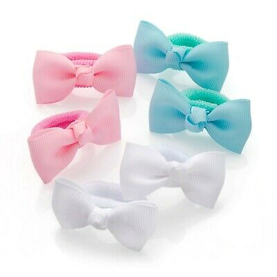 GIRLS HAIR BOWS BOBBLES/PONIOS/HAIR BANDS Baby Little Girls Small Hair Bow Bo...