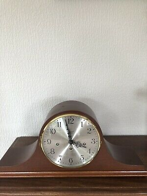 A Good Mahogany Cased Rapport Ting Tang Chime Strike Mantle Clock *Serviced*