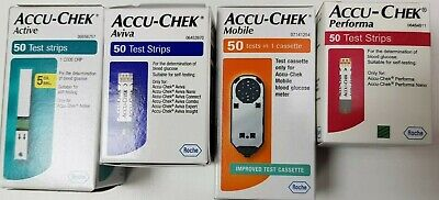 Accu-chek Active, Aviva, Mobile, Performa blood glucose test strips