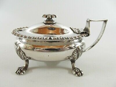 Large Antique Silver Plated Mustard Pot Ref 85/2