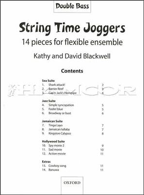 String Time Joggers Double Bass Sheet Music Book Oxford SAME DAY DISPATCH