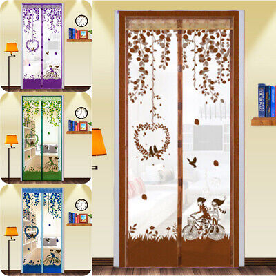 Anti Mosquito Fly Bug Magic Magnetic Screen Door Net Mesh Curtain Kid's Room