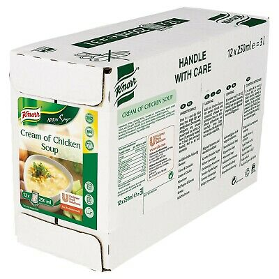 Knorr Cream of Chicken Soup 100% Portion Pouch 12 x 250ml RTU
