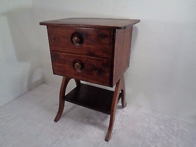 Vintage Antique 2 Drawer Stand Table Cabinet With Shelf