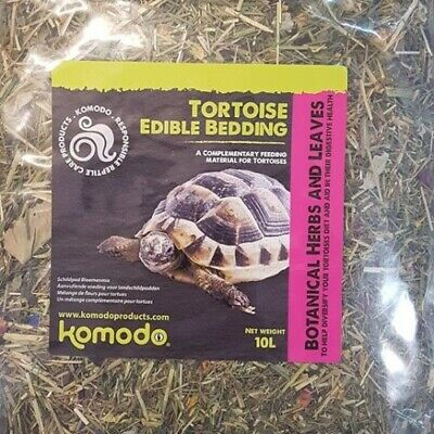 Komodo Edible Tortoise Bedding 10L Herbs Leaves Grasses Flower Terrain Food