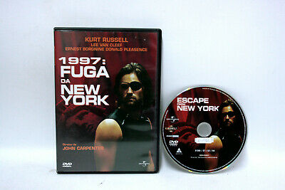 1997: Fuga Da New York John Carpenter Kurt Russel Universal 2004 Dvd Usato 64037