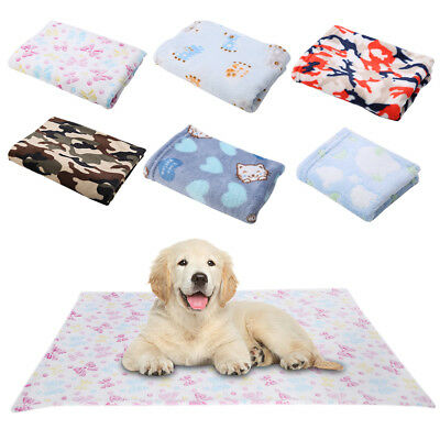 Waterproof Warm Soft Fleece Pet Blanket Large Cat Dog Kennel Bed Mat Cushion