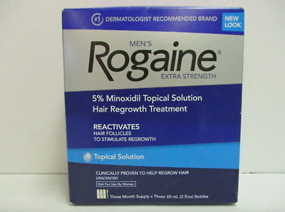 Rogaine Mens Minoxidil Topical Solution Extra Strength, 3 Month🔥 exp 12/2020