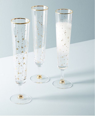 Anthropologie Salon Monogram Champagne Flute
