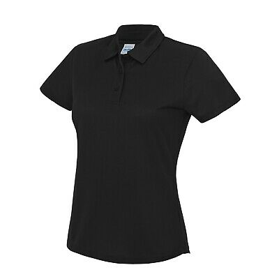 AWDis Ladies Girlie Cool Wicking Breathable Polo Shirt Top Running Gym JC045