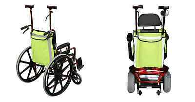 Wheelchair  And Mobility Scooter Shopping Bag - High visibility wheelcair bag.
