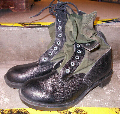 Genuine British Army Green/Black Jungle Boots - Not Issued Size - Uk 9 M