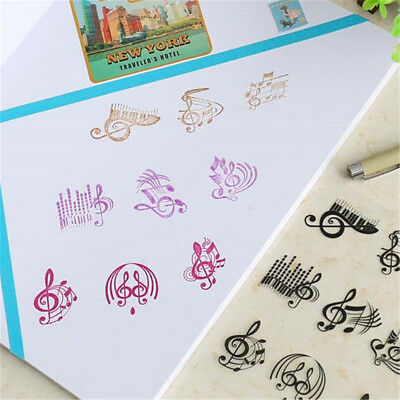 Happy Notes Transparent Klar Silikon Stempel für DIY Scrapbooking Album Decor BC