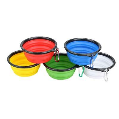 Silicone Folding Dog Bowl Outfit Pets Feeder with Buckle Pet Supplies