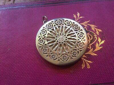 Antique early 1900's Sterling Silver Vinaigrette For Chatelaine Or Chain