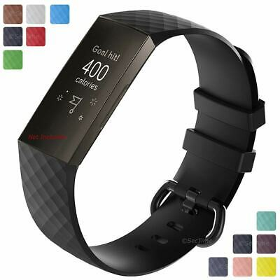 For Fitbit Charge 3 Replacement Silicone Watch Strap Band Men's Women's