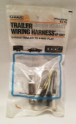 UNIVERSAL TRAILER HITCH 4 Way Flat End Wiring Harness w Long Clip On on hitch wiring cover, toeing 2012 jeep cherokee wire harness, hitch bumper, hitch sleeve, jeep grand cherokee towing wire harness, trailer hitch harness,