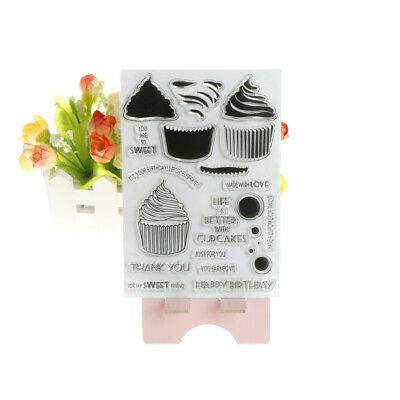 Cupcakes DIY Transparent Silicone Clear Stamps Scrapbooking Album Cards Deco  BC