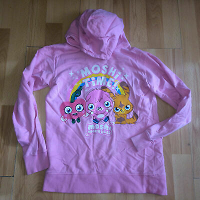 Moshi Monsters Girls Childrens Hoodie Hooded Jumper Pink Age 11-12 Years