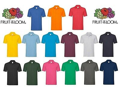 Fruit of the Loom Men's Short Sleeves 100% Premium cotton Piqué Polo Shirt New