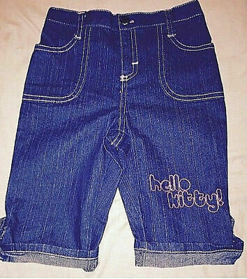 HELLO KITTY  Girls Dark Blue Jeans Elasticated Waist NEW 2, 4 5 6 years