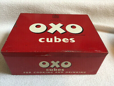 VINTAGE 1960s Collectable Metal Oxo Cubes Tin