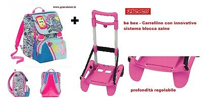 Set Zaino SJ con Flip System)Seven Facce da Sj Girl + Trolley Be Box New