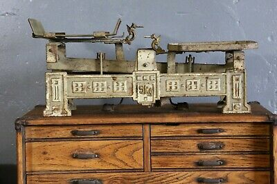 Antique Countertop Table Scale Dragon Heads 5kg industrial balance kitchen old