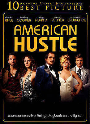American Hustle Christian Bale, Amy Adams, Bradley Cooper DVD Used - Like New