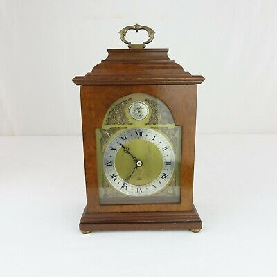 Elliott of London Bracket Clock French Escapement 8 Day Mantel Burl Walnut