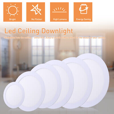Round Recessed LED Panel Ceiling Light Ultra Slim Down-Light With LED Driver