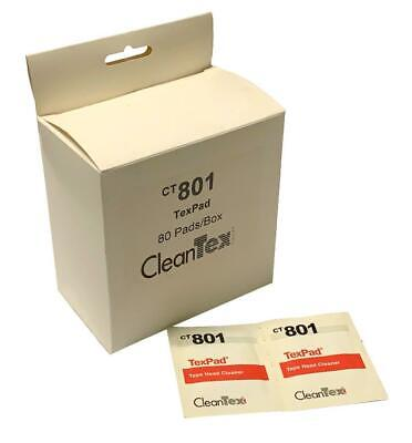 New CleanTex CT801 TexPad Tape Head Cleaner Wipes (Box of 80) - 5 Available