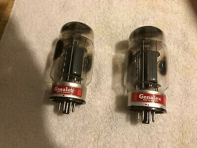 GENALEX KT88 ENGLAND PAIR VINTAGE GOLD LION Vacuum Tubes Used Old Stock TESTED