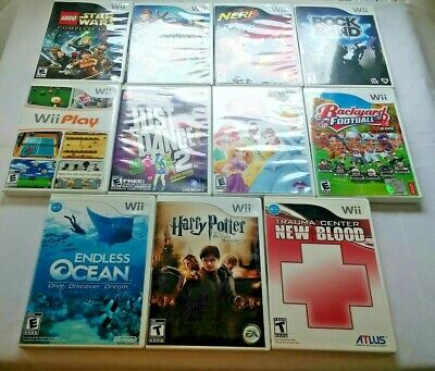 Lot of 11 Nintendo Wii Games Tested Works Marvel Harry Potter Star Wars Lego