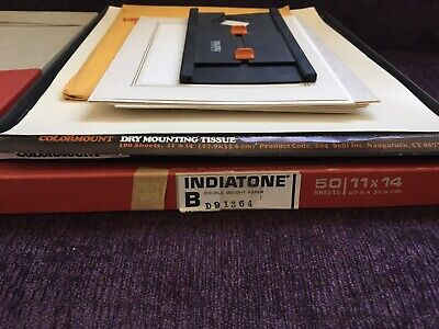 vtg  photographic paper GAF Indiatone opened boxes
