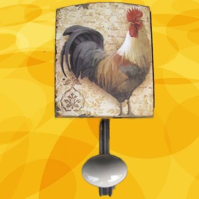 Wall Hook Rooster Wardrobe Shield Iron H.21x12cm Vintage Aesthetics Home Gift
