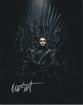 Game of Thrones Maisie Williams autographed 8x10 photograph RP
