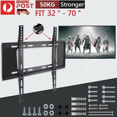 """32-70 Inch Slim LCD LED TV Wall Mount Bracket Flat for CONIA CLED4278 42"""" 75KG"""