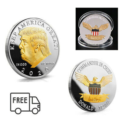 USA President Donald Trump 2020 KEEP AMERICA GREAT Silver&Gold Eagle Coin LN