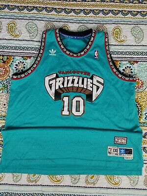 buy popular e0892 3cfe3 VANCOUVER GRIZZLIES MIKE Bibby Basketball Jersey Throwback ...