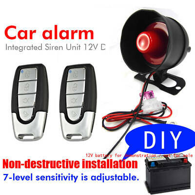 Casual Vibration Voiture Alarm Device Free Trimming Pour 12V Motorcycle Truck