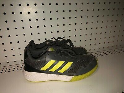 Adidas AltaRun Boys Youth Athletic Shoes Size 2 Gray Neon Green