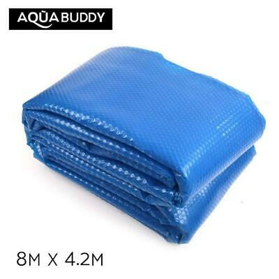 Aquabuddy Solar Swimming Pool Cover 500 Micron Outdoor Bubble Blanket 8M X 4.2M