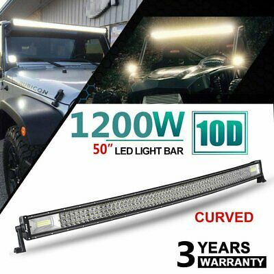 50 inch CREE LED Light Bar 4x4 Curved Combo Beam Work Driving Lamp 356000LM 1PC