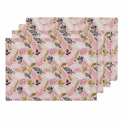 Cloth Placemats Tropical Leaves Tropical Plants Summer Modern Home Set of 4