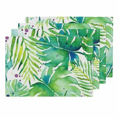 Cloth Placemats Tropical Leaves Green Tropical Plants Tropical Leaves Set of 4