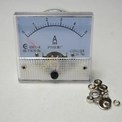 DC 0-5A 85C1 Analog AMP Panel Meter Gauge