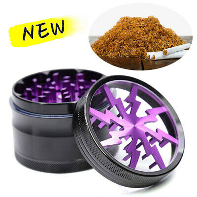 4Layer Herb Grinder Spice Tobacco/Weed Smoke Crusher Leaf Aluminium Alloy Purple